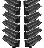 Foamily XL Column Acoustic Wedge Studio Foam Corner Block Finish Corner Wall in Studios or Home Theater (12 Pack)