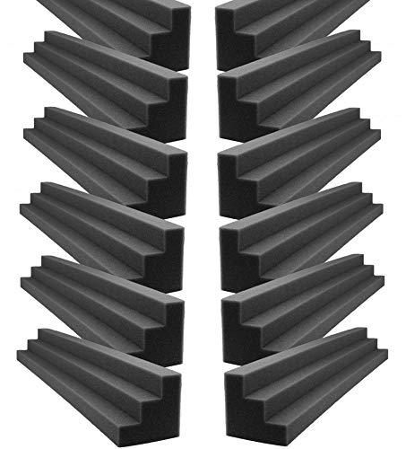 XL Column Acoustic Wedge Studio Foam Corner Block Finish Corner Wall in Studios or Home Theater (12 Pack)