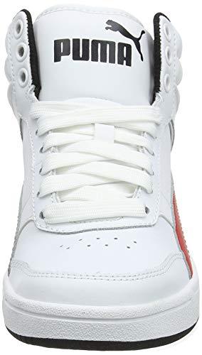 Red Street Puma White Puma 06 V2 ribbon Black Hautes Baskets puma Blanc Mixte Rebound Jr Enfant L ggwRqn5OF