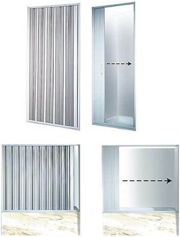 Mampara de ducha plegable ancho variable 80-95 cm puerta plegable ...