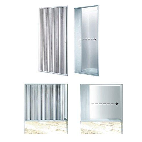 Mampara de ducha plegable ancho variable 25 80 cm puerta - Mampara plegable ducha ...