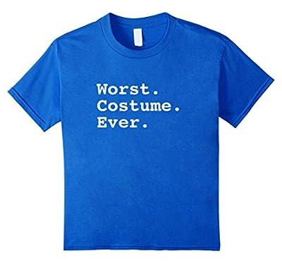 WORST COSTUME EVER Plain Boring Funny Halloween T Shirt