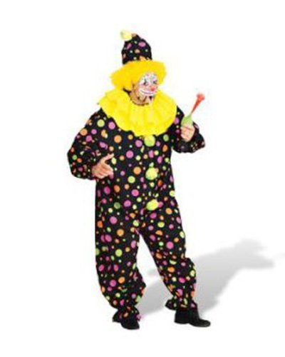 Rubie's Men's Plus Size Clown Costume, As Shown, Multicolor]()