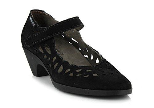 Mephisto Vestir Negro De Zapatos Vuelta Piel Mujer rqEqSwxAZ