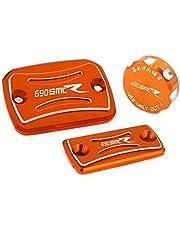 crazy sport For KTM 690 SMC-R SMCR Front Rear Brake Clutch Cylinder Cover Reservoir 2014-2019 690SMC SMC R Motocycle Accessories Oil Fluid Cap Tank Cup Logo