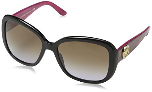 Versace VE4278B GB1/68 Black / Pink Print VE4278B Square Sunglasses Lens - Sunglasses Pink Versace