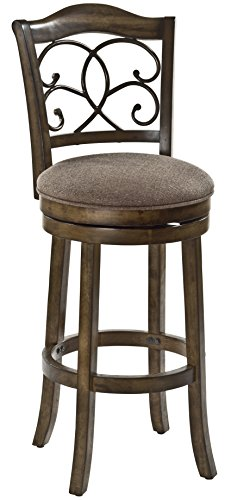 Hillsdale 5625-826 McLane Swivel Counter Stool, Rich ()