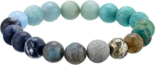 Dee Berkley Unisex Ombre Chakra Gemstone Beaded Bracelet