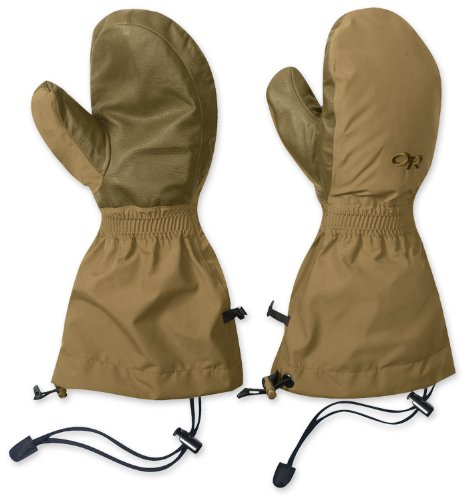 Outdoor Research Men's Firebrand Mitts, Coyote, Large