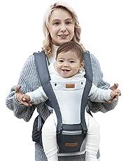 besrey babybärare baby sele babyvira bärare med 100 % bomull, 4 justerbar position för 0 mo till 25 kg – svart