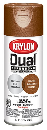 Krylon K08843000 'Dual' Superbond Paint and Primer Hammered Finish, Copper, 12 Ounce ()