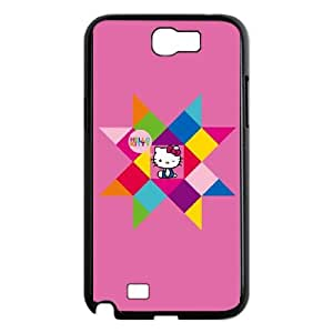 Samsung Galaxy N2 7100 Cell Phone Case Black_Hello Kitty Geometric Exrze