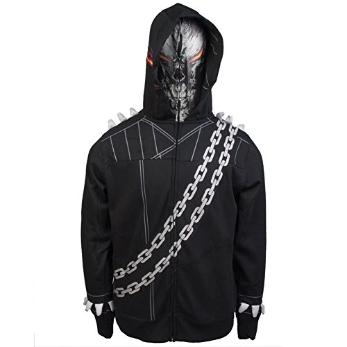 Ghost Rider Costume For Boys (Marvel Men's Ghostooridoo Costume Hoodie, Black, Large)
