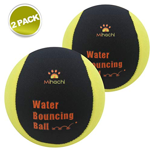 Mihachi Water Toys for Dogs, Bouncing Chew Balls Floating Toy, Bouncier, Buoyant in Pool or Lake Fun for Small to Medium Dogs