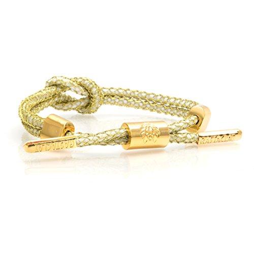 RASTACLAT Knotaclat Break Away NOVAC Bracelet in White/Gold