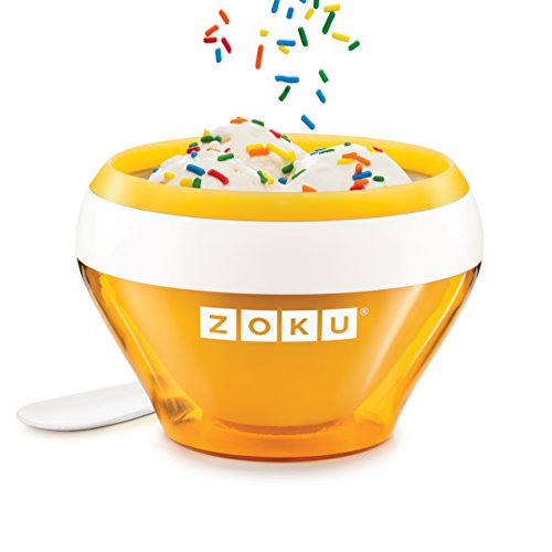 Zoku Orange Ice Cream Maker, Instant Ice Cream Maker