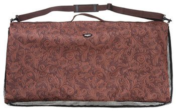 (Tough-1 Western Pad Bag Brown Tooled Leather)