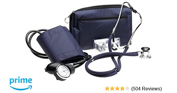 Amazon.com: Prestige Sphygmomanometer and Sprague Kit with Matching Navy Carrying Case: Health & Personal Care