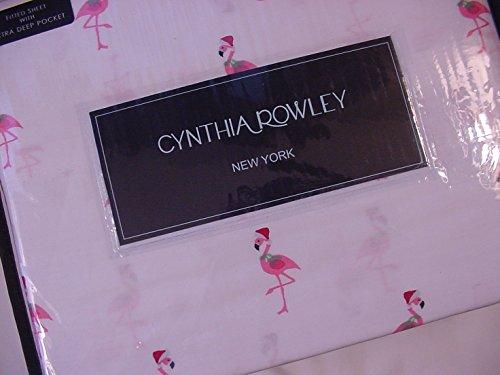 Cynthia Rowley Pink Flamingos in Santa Hats Sheet Set - Stores Queens New In York