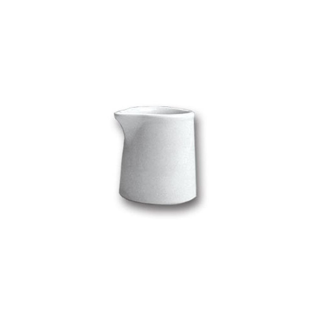 Hall China 376 1/2-WH White 2 Oz. Creamer without Handle - Dozen