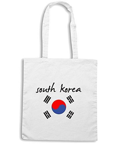 T-Shirtshock - Bolsa para la compra T0707 sud korea calcio ultras Blanco