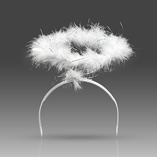 Hallowwen Costumes (Yuda Angel Feather Halo Headwear Costume for Xmas Children Party Hallowwen Costume Decorations(White))
