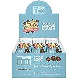 Kiss My Keto Snacks Keto Bars – Keto Chocolate Cookie Dough, Nutritional Keto Food Bars, Paleo, Low Carb/Glycemic Keto Friendly Foods, All Natural On-The-Go Snacks, High Quality Fat Bars, 3g Net Carbs