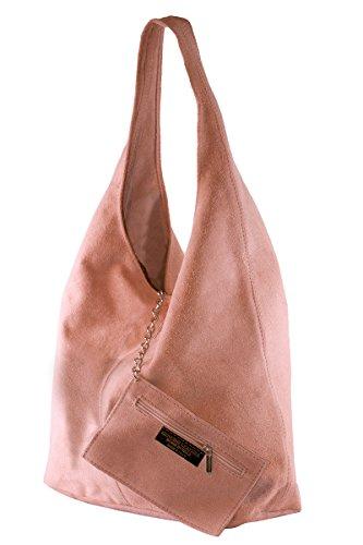 Les Poudre femmes Made de in en réelle SARA 100 sac sans Italy BORDERLINE daim bourse doublure nFZUIw1