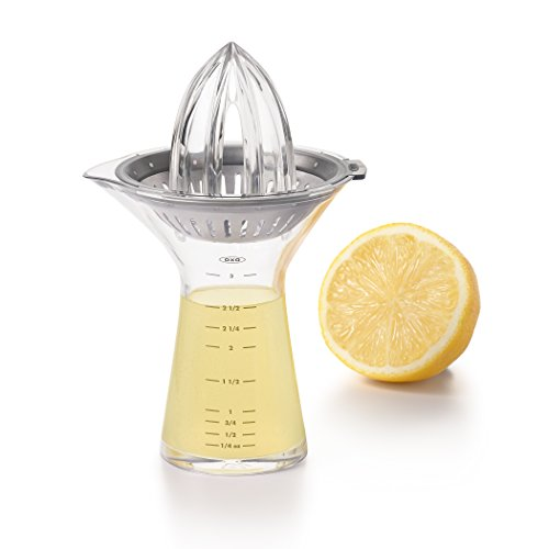 OXO SteeL Small Citrus Juicer with Built-In Measuring Cup and Strainer