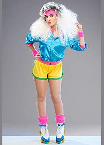 Disfraz de niña Brillante de Rollerskater de los años 80 Medium ...