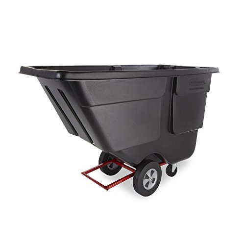 Rubbermaid Commercial FG131400BLA Polyethylene Tilt Truck, Heavy Duty 850-Pound Capacity, - Black Capacity Cart
