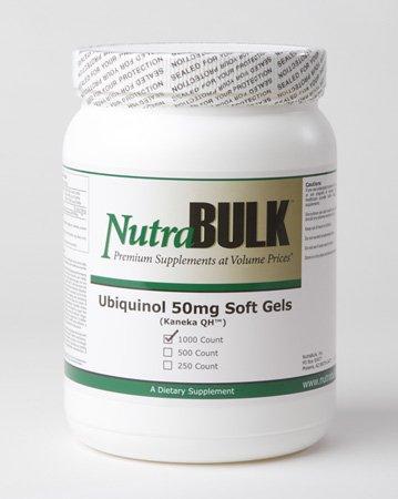 NutraBulk Premium Ubiquinol 50mg Soft Gels - 1000 Count by NutraBulk