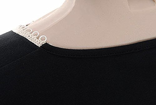 T-shirt t-shirt verpass de collection avec bordure le décolleté-noir-taille 46