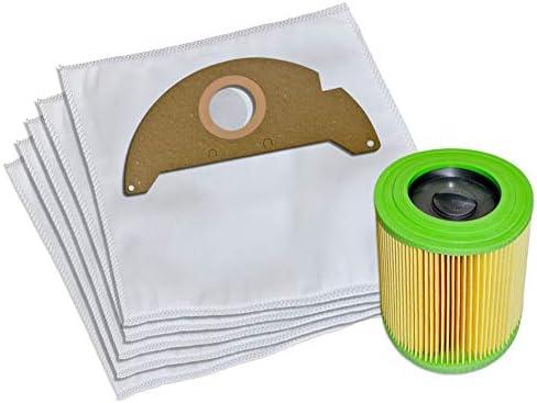 10 bolsas de aspiradora + filtro adecuado para Kärcher A 2004, A ...
