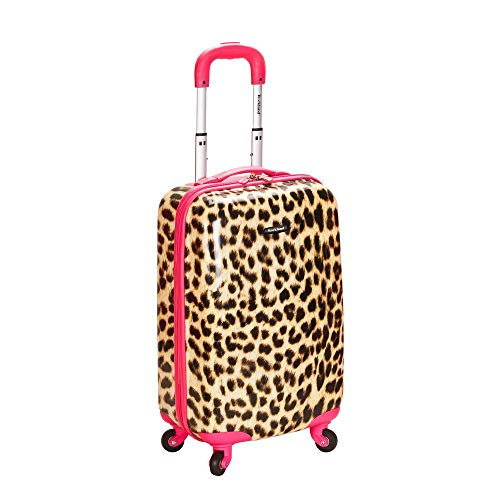 Rockland 20 Inch Carry On Skin, Pink Leopard