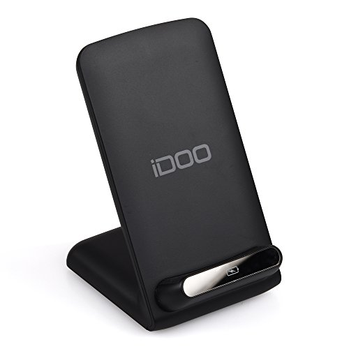 iDOO Wireless Charger 3 Coils Wireless Charging stand Charger for Samsung Galaxy S7, S7 Edge, Galaxy Note 7 Note 5, Galaxy S6 Edge Plus, S6, S6 Edge and all Qi Enabled Phones - Black