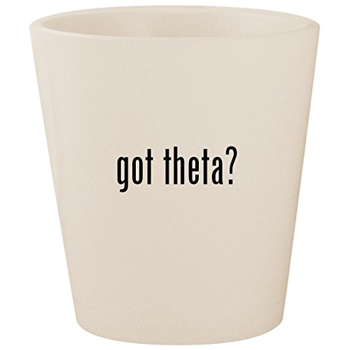 got theta? - White Ceramic 1.5oz Shot Glass