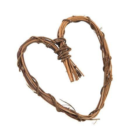 (Darice Bulk Buy DIY Grapevine Heart Natural 6 inches (12-Pack) 2802-08)
