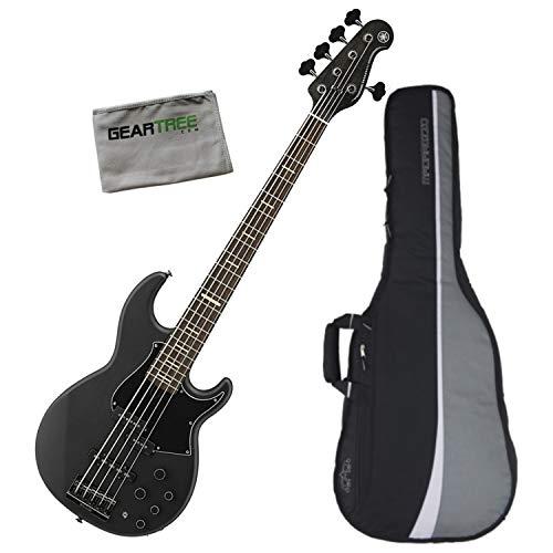 Yamaha BB735A TMBL 5 String Bass Guitar Matte Trans Black w/Polish Cloth and Gi