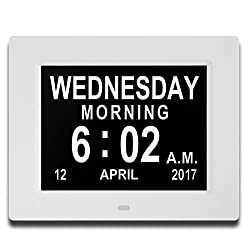 Updated Version Digital Wall Clock- Alarm clocks- Kitchen LED Clock- Extra Large Electronic Calendar Day Clock with Battery Backup- Large Numbers (White)