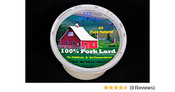 Amazon.com : 100% Pure All Natural Pork Lard 1 lb. (16 oz.) one pound : Grocery & Gourmet Food