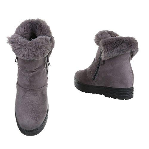 ... Damen Winter Stiefeletten   Winterstiefel gefüttert   Dick gefütterte  Schneestiefel   Kunst Fell Winter Boots ... 62a1530199