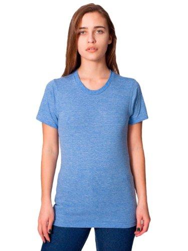 American Apparel Unisex Tri-Blend Short Sleeve Track Shirt - Athletic Blue / XXL