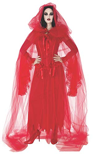 Rubie's Women's Cursed Scarlet Cape, red, One Size