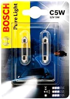 Bosch C5w 5w 36mm Pure Light 1987301004 Doppelblister Glühlampen Autolampen 12v 2 Stück Kennzeichenlicht Innenbeleuchtung Auto