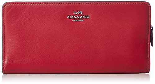 COACH Women's Skinny Wallet SV/Red Currant Checkbook Wallet by Coach