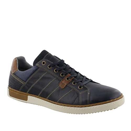 Mustang Shoes MARIO leather trainer navy free shipping excellent X4Q3KS0mYA