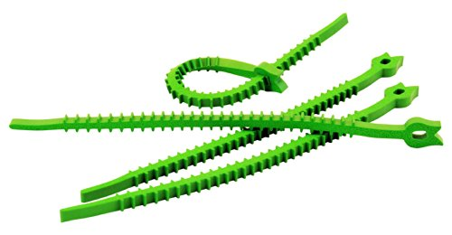UT-Wire UTW-QK20-GN Q Knot Outdoor Garden Reusable Soft Tomato Rose Plant Herb Cable Tie, Green 20-Pieces,