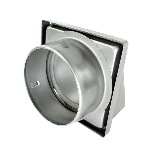 First4Spares Stainless Steel Cowled External Extractor Wall Vent Outlet With Cushioned Non Return Flap 150Mm 6