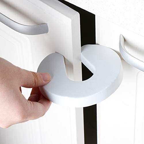 IKAAR Door Stopper 5PCS Baby Safety Door Stoppers EVA Foam Door Stopper Children Kids Safety Door Clip Guard for Kitchen Bedroom Home Security Accessory